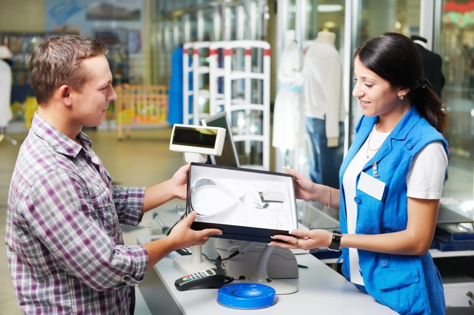 Проведение продажи в магазине с использованием сканера штрих-кодов